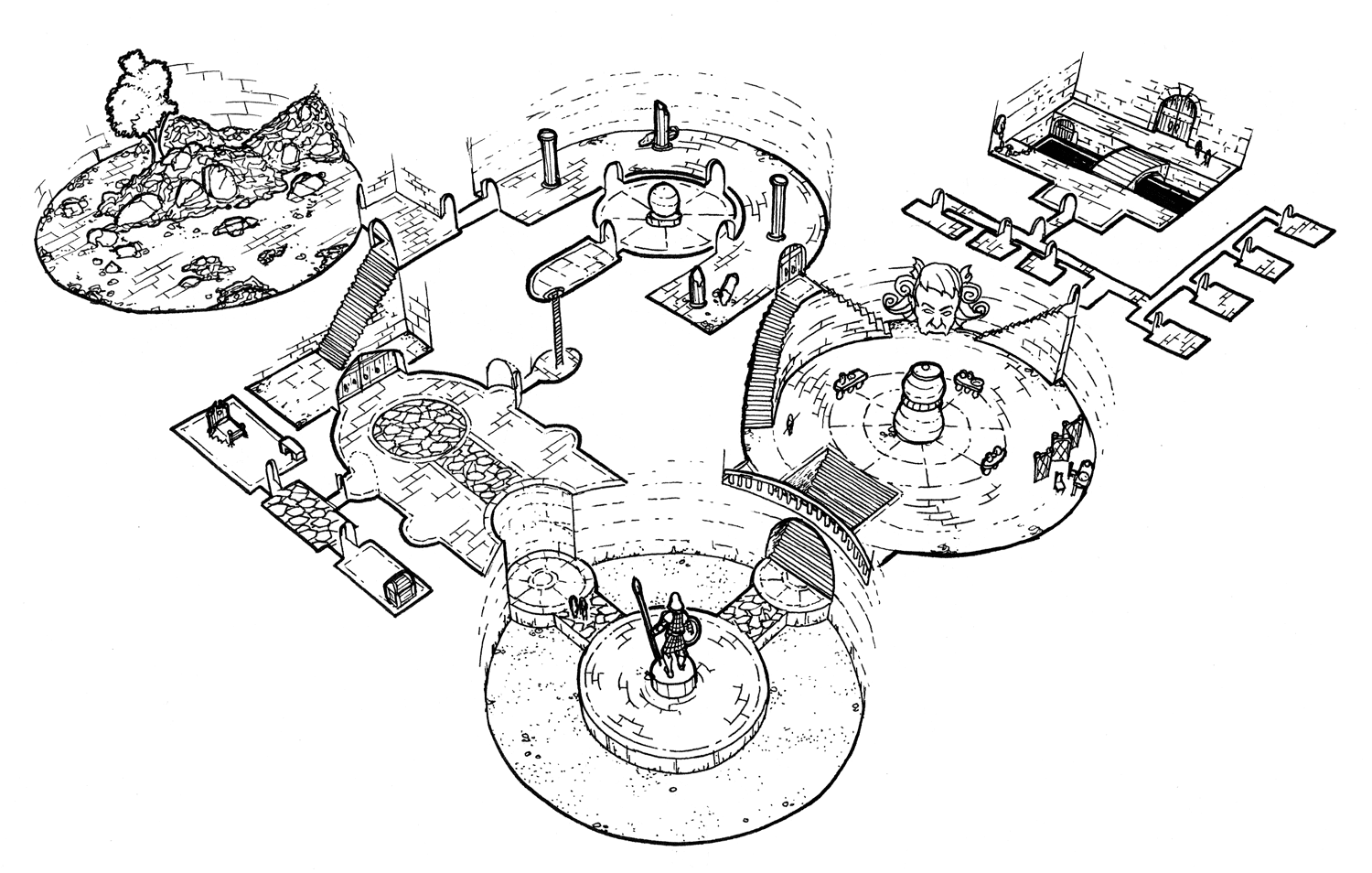 Simultaneous Interconnected Dungeon Crawl